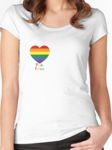 ♥ Pride colors ♥ Women's Fitted Scoop T-Shirt