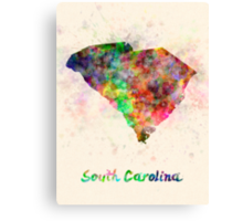 South Carolina US state in watercolor Canvas Print
