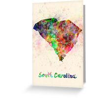 South Carolina US state in watercolor Greeting Card