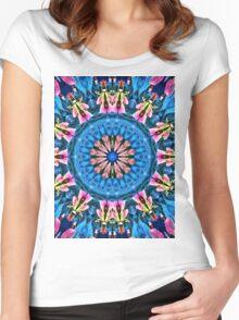Cosmic purple storm Women's Fitted Scoop T-Shirt