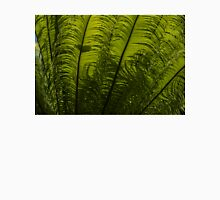 Tropical Green Rhythms - Feathery Fern Fronds - Horizontal View Upwards Right Unisex T-Shirt
