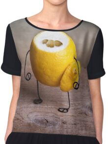 Simple Things - Headless Lemon Chiffon Top