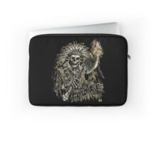 Native American Chief Skull Laptop Sleeve