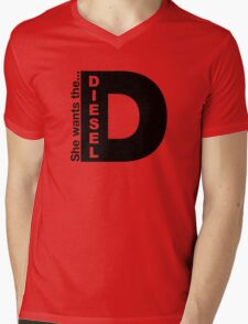 She Wants The D, Witty Saying Diesel T-Shirt Mens V-Neck T-Shirt