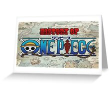 History Of One Piece Logo Greeting Card