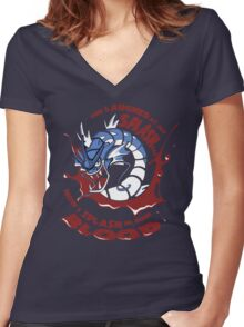Gyrados Women's Fitted V-Neck T-Shirt