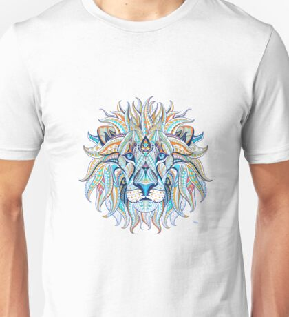 Ethnic Blue Lion Unisex T-Shirt