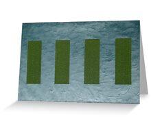 Green Pillars Greeting Card