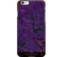 USGS TOPO Map Alaska AK Juneau A-6 356322 2000 63360 Inverted iPhone Case/Skin