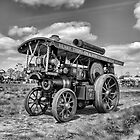 "Showmans Engine ""Lord Nelson"" Black and White by Avril Harris"