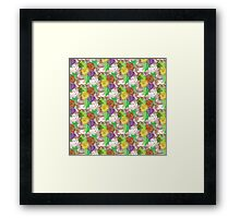flowes pattern Framed Print