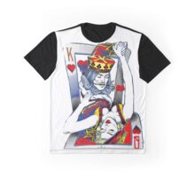 Dancing King and Queen Playing cards Graphic T-Shirt