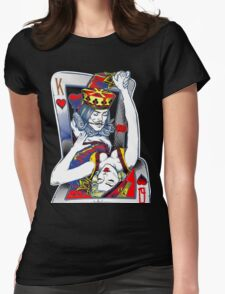 Dancing King and Queen Playing cards Womens Fitted T-Shirt
