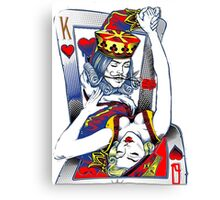 Dancing King and Queen Playing cards Canvas Print