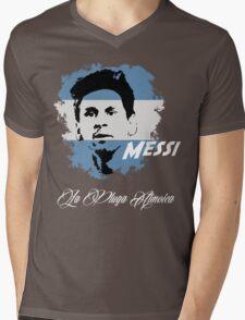 ARGENTINA LIONEL MESSI WC 14 FOOTBALL T-SHIRT Mens V-Neck T-Shirt