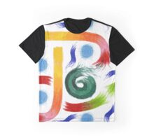 Abstract Pastel Doodles Graphic T-Shirt