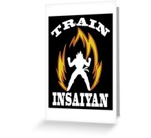 Train Insaiyan Greeting Card