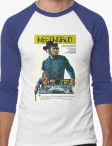 Westworld Movie Poster Men's Baseball ¾ T-Shirt