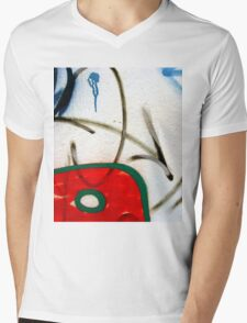 Abtag weighted red Mens V-Neck T-Shirt