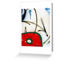 Abtag weighted red Greeting Card