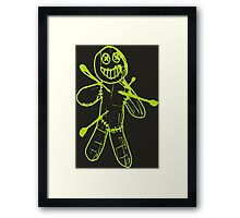 Sackman - Ouch (Green) Framed Print