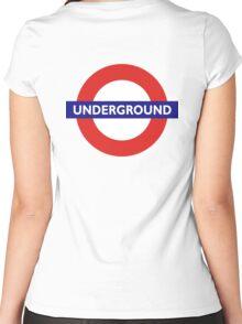 UNDERGROUND, TUBE, LONDON, GB, ENGLAND, BRITISH, BRITAIN, UK Women's Fitted Scoop T-Shirt
