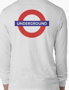 UNDERGROUND, TUBE, LONDON, ENGLAND, BRITISH, BRITAIN, UK Long Sleeve T-Shirt