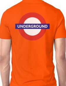 UNDERGROUND, TUBE, LONDON, GB, ENGLAND, BRITISH, BRITAIN, UK Unisex T-Shirt