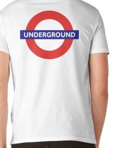 UNDERGROUND, TUBE, LONDON, GB, ENGLAND, BRITISH, BRITAIN, UK Mens V-Neck T-Shirt