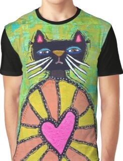 Cat With Heart Graphic T-Shirt