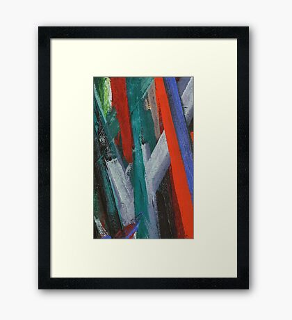 Brushstrokes Framed Print