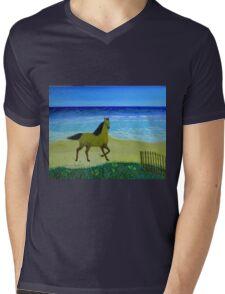 Feeling Free Horse Mens V-Neck T-Shirt