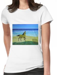 Feeling Free Horse Womens Fitted T-Shirt