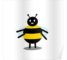 funny friendly bumble bee Poster