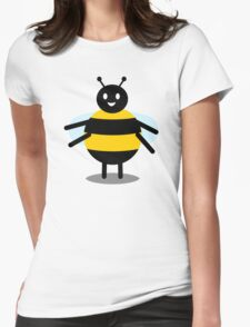 funny friendly bumble bee Womens Fitted T-Shirt