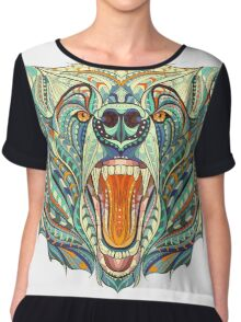 Head Of The Growling Bear Chiffon Top