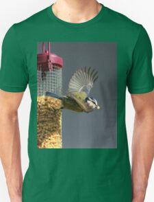 Blue tit on bird feeder T-Shirt