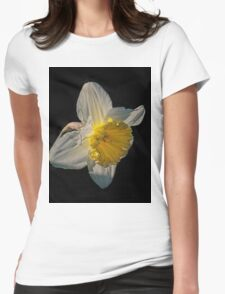 Sunlight Daffodil Womens Fitted T-Shirt