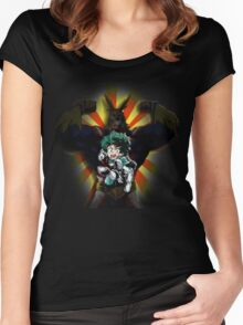 My hero academia  Women's Fitted Scoop T-Shirt