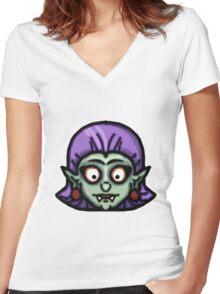 """Girl Vampire """"Drusilla"""" Women's Fitted V-Neck T-Shirt"""