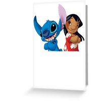 Cute Lilo and cute Stitch Greeting Card