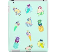 pugs fruit ice cream doodle iPad Case/Skin