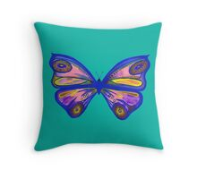 Watercolour Butterfly 1 Throw Pillow