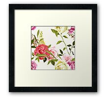 Bouquet of peony and chinese rose. Framed Print
