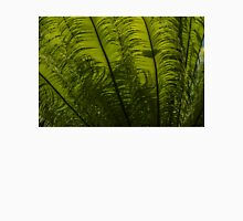 Tropical Green Rhythms - Feathery Fern Fronds - Horizontal View Upwards Left Unisex T-Shirt