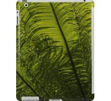 Tropical Green Rhythms - Feathery Fern Fronds - Horizontal View Upwards Left iPad Case/Skin