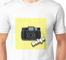Holga Camera with Yellow Rays Unisex T-Shirt