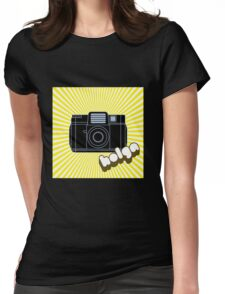 Holga Camera with Yellow Rays Womens Fitted T-Shirt