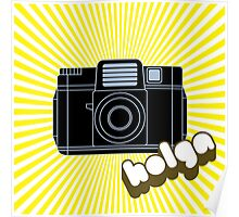 Holga Camera with Yellow Rays Poster