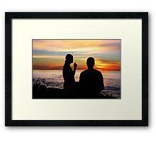 Conversation At Sunset Framed Print